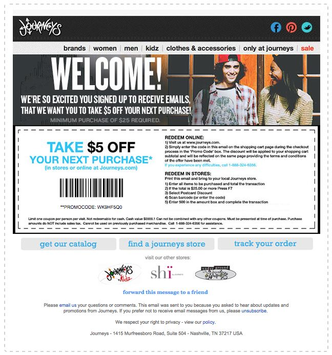 Journeys coupon codes 2018