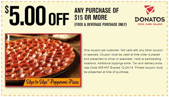 Donatos coupons for large pizza