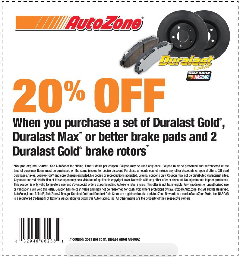 Autozone discount coupon codes