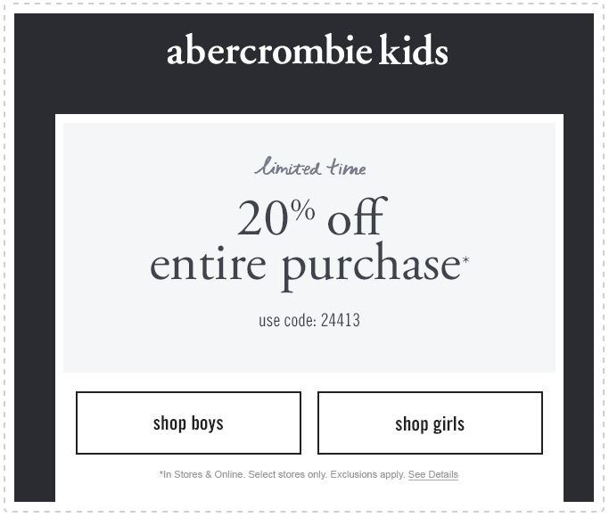 abercrombie kids coupons