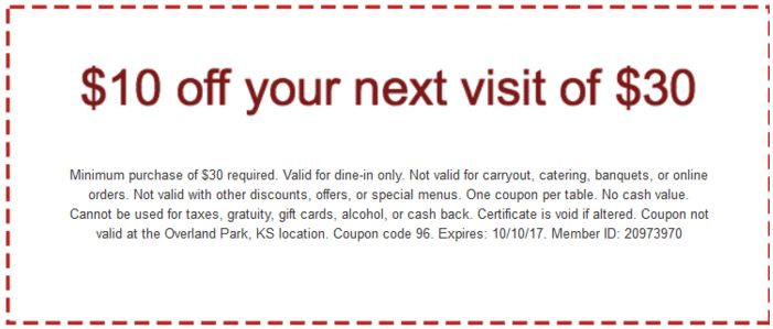 picture relating to Maggianos Printable Coupon named Printable Maggianos Small Italy Cafe Coupon: $10 Off