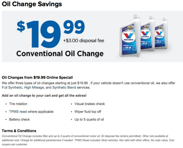 Printable Tirekingdom Com Coupon Get An Oil Change For 19 99