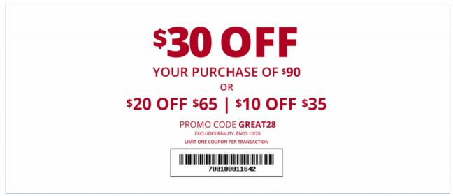 graphic about Charming Charlie Printable Coupon named Printable Beautiful Charlie Coupon: Up Towards $30 Off With