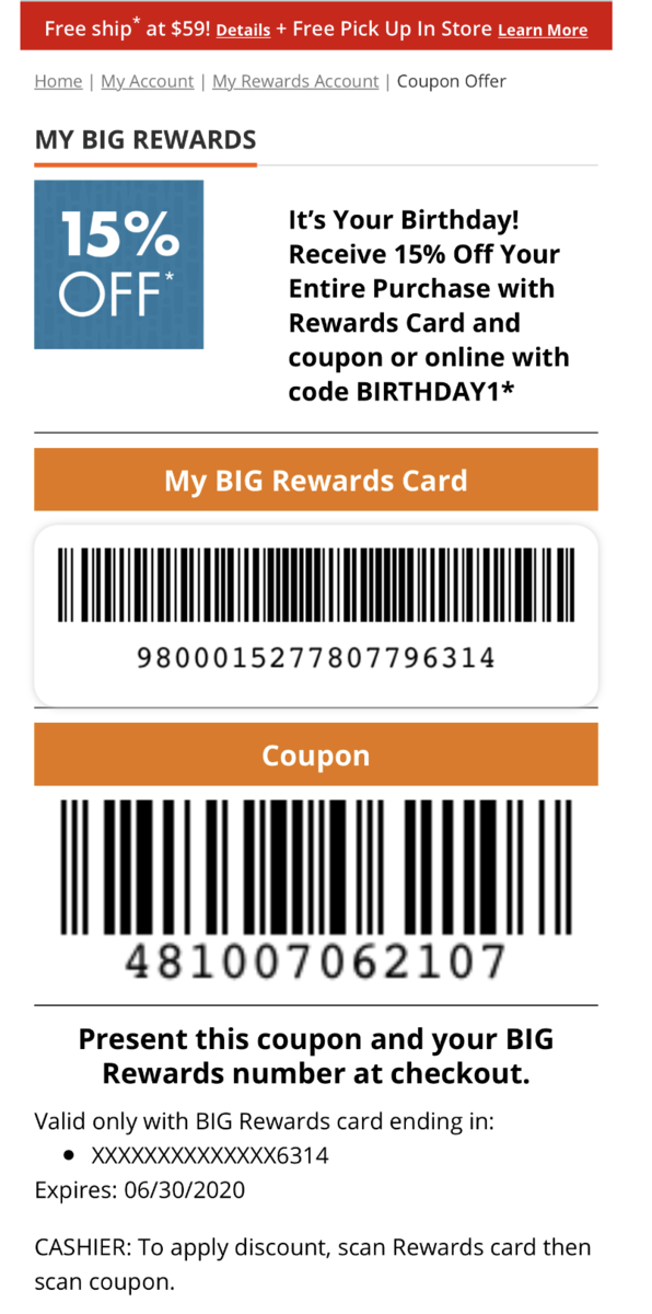 Printable Big Lots Coupon 15 Off Your Entire Purchase For Those With June Birthdays
